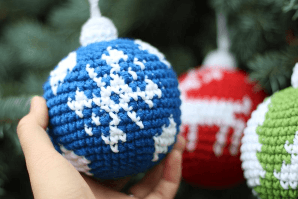 Snowflake Crochet Christmas Ornament Pattern by Frants Toys