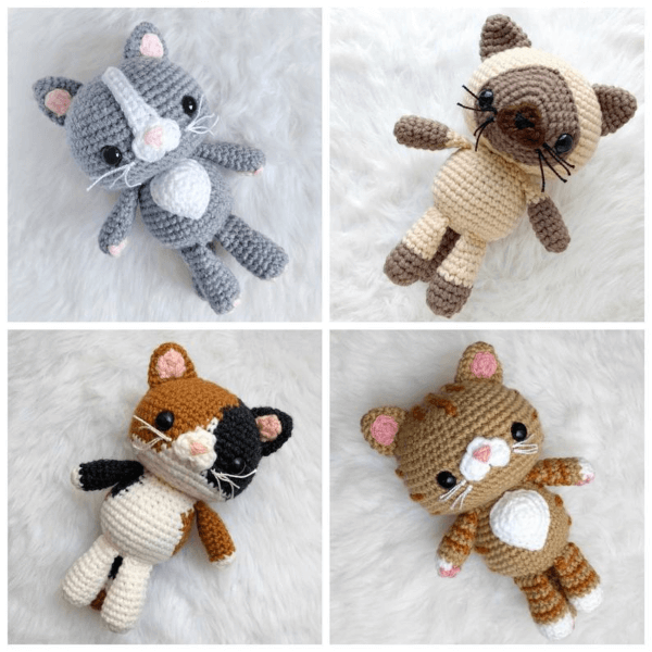 Snuggly Crochet Cat Pattern by AmiAmore