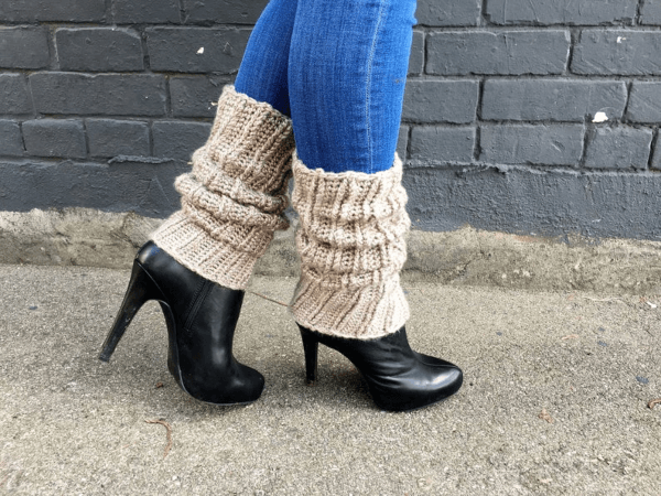 Super Slouchy Crochet Leg Warmers Pattern by Knot Yourself Out