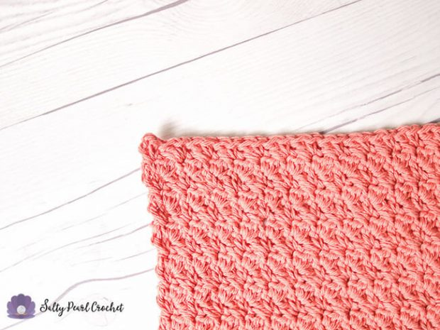 Suzette Stitch Crochet Washcloth Pattern Details