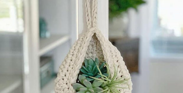 Teardrop Crochet Basket Pattern Hang on hook