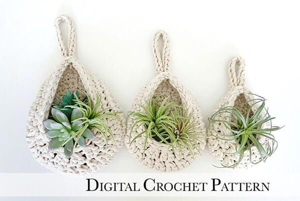 Teardrop Crochet Basket Pattern Sizes