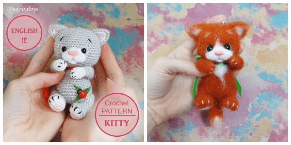 Ginger cat amigurumi pattern | Crochet cat pattern, Crochet ... | 300x600