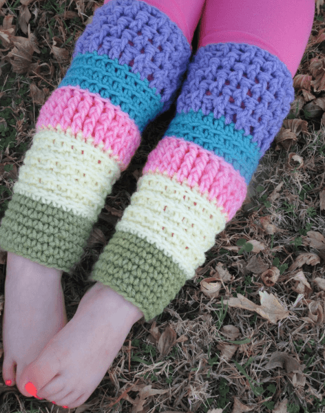 Toddler Crochet Leg Warmers Pattern by County Road Crochet