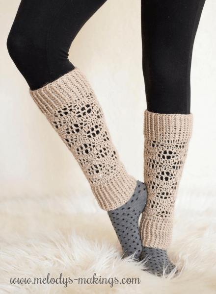 Wisteria Crochet Leg Warmers Pattern by Melodys Makings