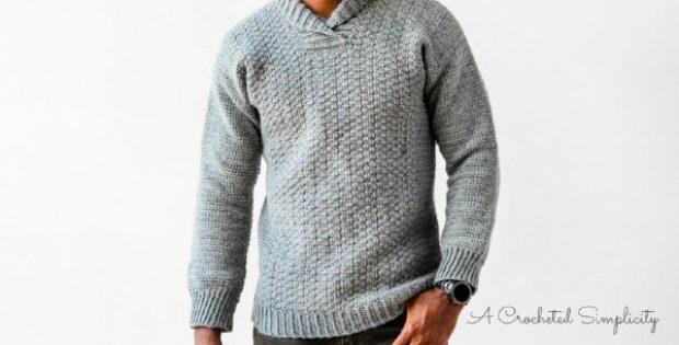wulf mens pullover sweater crochet pattern