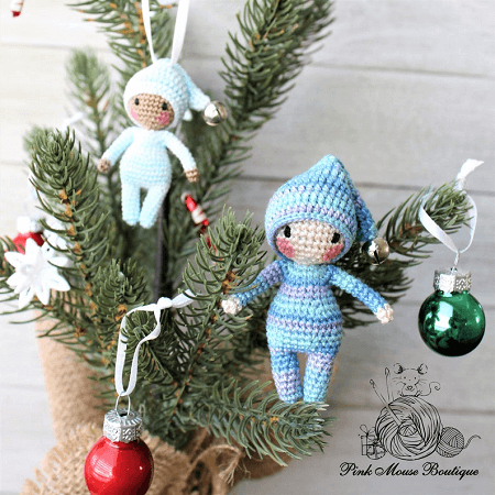 Crochet Waldorf Elf Amigurumi Pattern by Pink Mouse Boutique