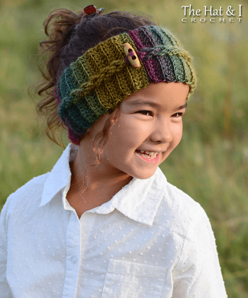 Autumn Breeze Headwrap Crochet Pattern by The Hat And I