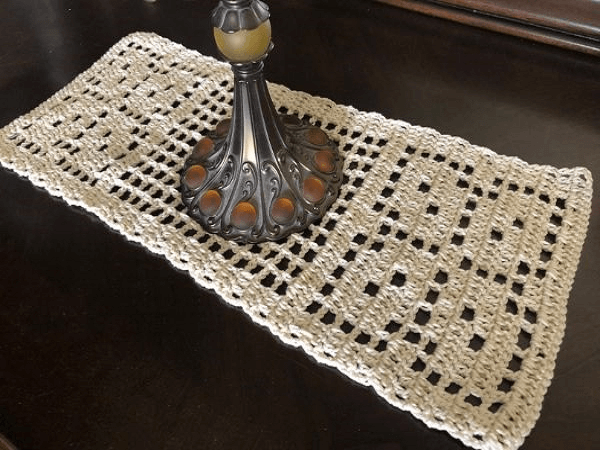 Autumn Leaves Table Runner Crochet Pattern by Pam Grice