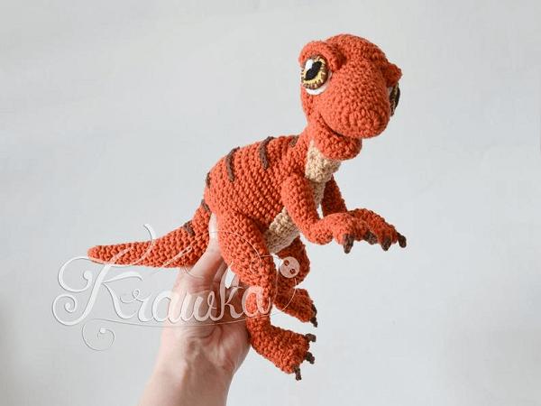 Baby Raptor Dinosaur Crochet Pattern by Krawka