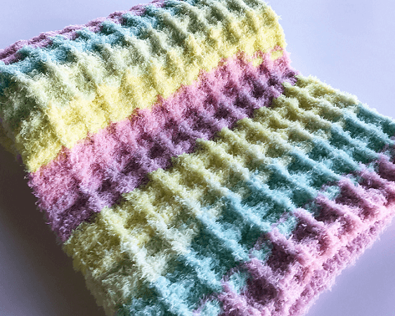 Crochet Waffle Stitch Baby Blanket Pattern by Michael Sellick