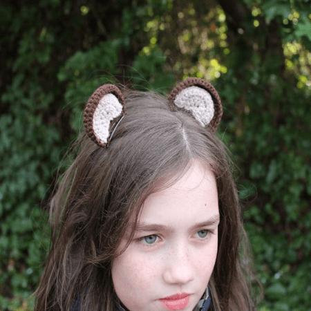 Clip on Bear Ears Crochet Pattern by Jane