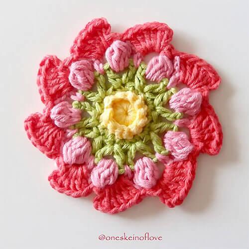 Free Blooming Pinwheel Crochet Flower Pattern Pink Flower