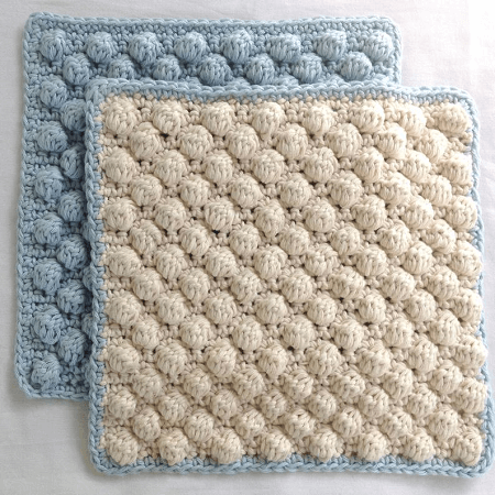 Bobble Stitch Dishcloth/Washcloth Crochet Pattern by Sunny And Stitch