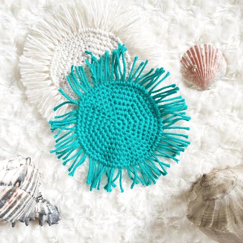 Boho Crochet Coasters Pattern by The Plush Pineapple