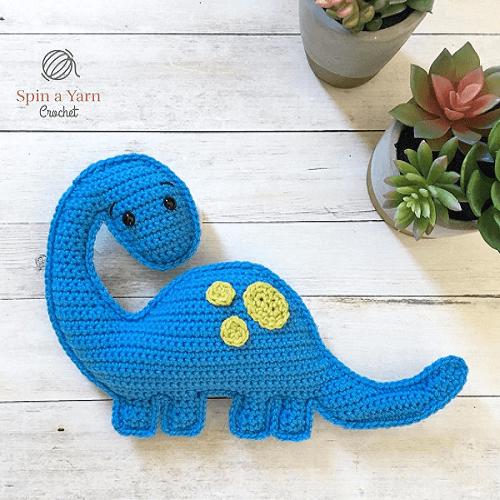 Brachiosaurus Dinosaur Crochet Pattern by Spin A Yarn Crochet