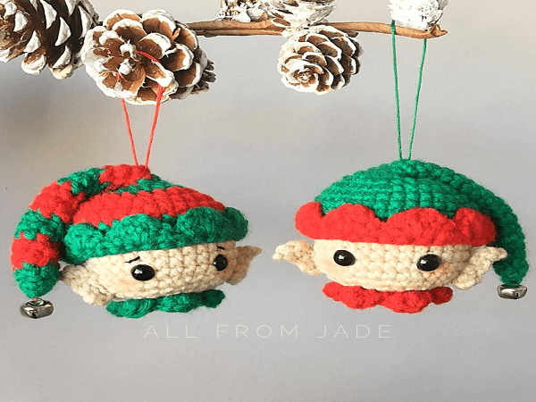 Christmas Elves Crochet Ornaments Pattern by All From Jade