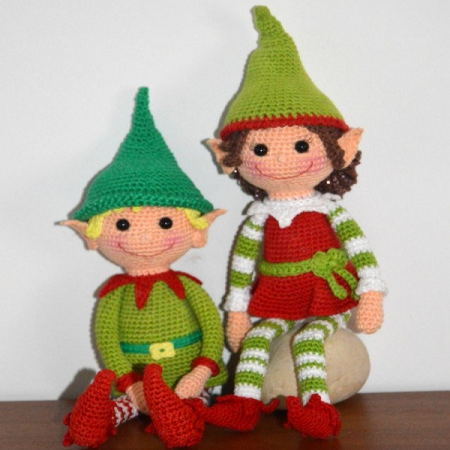 Christmas Crochet Elves Pattern by Amigurumi BB