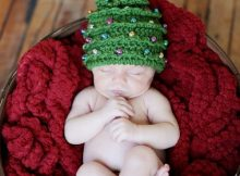 christmas tree crochet baby pattern hat