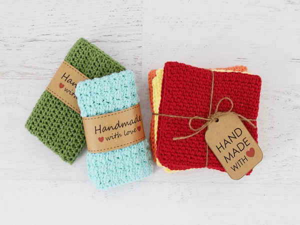 Classic Crochet Dishcloths Pattern by Yarn Blossom Boutique