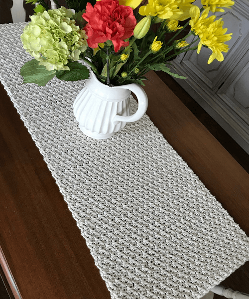 Cottage Style Table Runner Crochet Pattern by Cd Ck Design