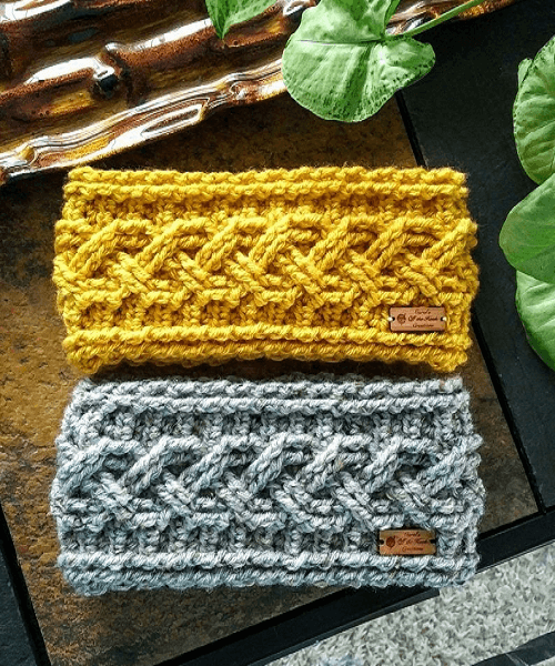 Crochet Apricity Headband Pattern by Carol's Off The Hook Shop
