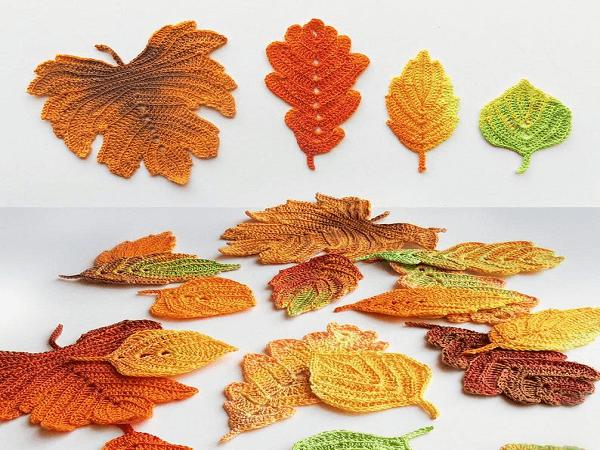 Crochet Autumn Leaves Pattern by Goolgool