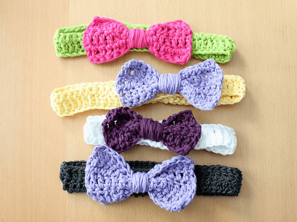 Crochet Bow Headbands Pattern by Simply Modern Mom