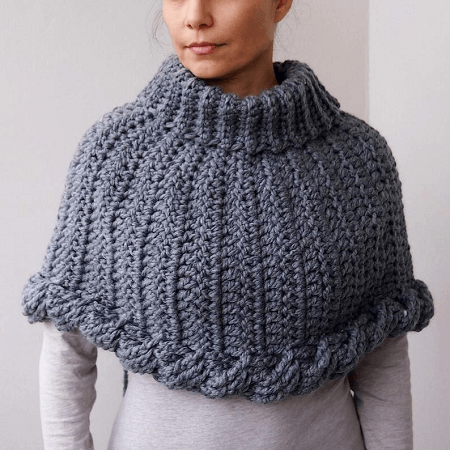 Crochet Braided Bulky Poncho Pattern by Ana D Design