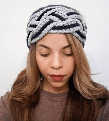 Crochet Braided Headband Pattern by Alysha Littlejohn