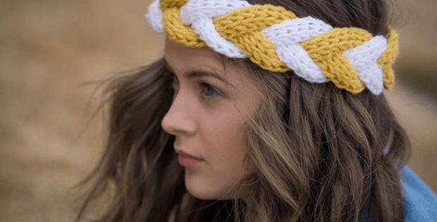 Crochet Braided Headband Pattern by Playin Hooky Designs
