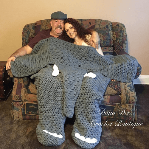 Bulky Elephant Blanket For Two Crochet Pattern by Dana Dee Crochet