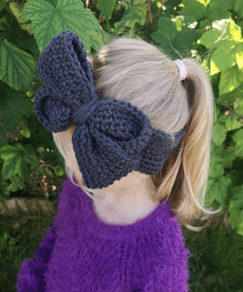 Crochet Cheerleader Bow Headband Pattern by Sew Craft Corner