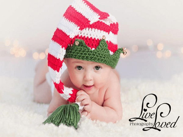 Crochet Pattern Christmas Elf Hat With Bells by Bezzy Moms Creations