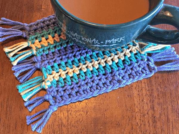 Crochet Coaster Pattern by Hooked Homemade Happy