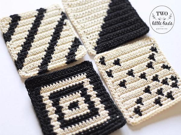 Crochet Coasters Pattern by TLB Patterns