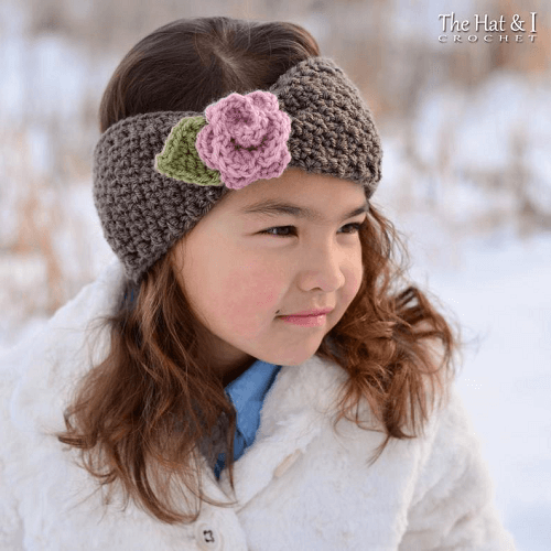 Crochet Cottage Rose Headband Pattern by The Hat And I