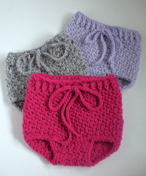 Crochet Diaper Cover Bloomers Pattern by Swellamy
