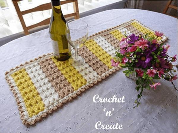 Crochet Dining Table Runner Pattern by Just Crochet 1