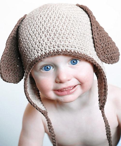 Crochet Doggy Ear Flap Pattern by Adrienne Engar