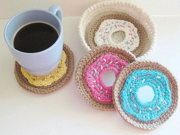Crochet Doughnut Coasters Pattern by Crochet Dreamz