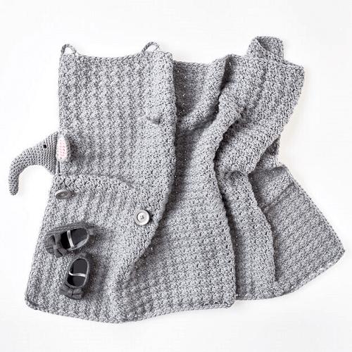 Crochet Elephant Baby Blanket Pattern by Red Heart