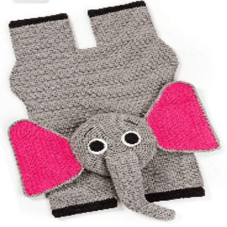 Crochet Elephant Rug Pattern by Barbara Roy