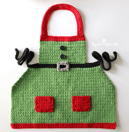 Crochet Elf Apron Pattern by Repeat Crafter Me