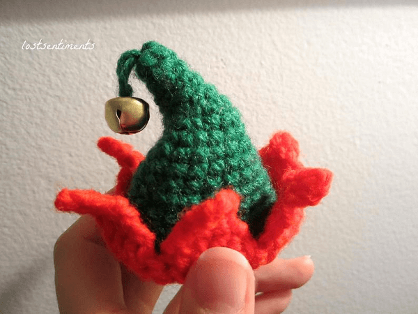 Tiny Crocheted Elf Hat Pattern by Lost Sentiments