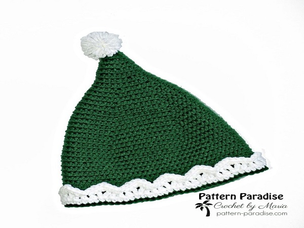 Elf Hat Free Crochet Pattern by Pattern Paradise