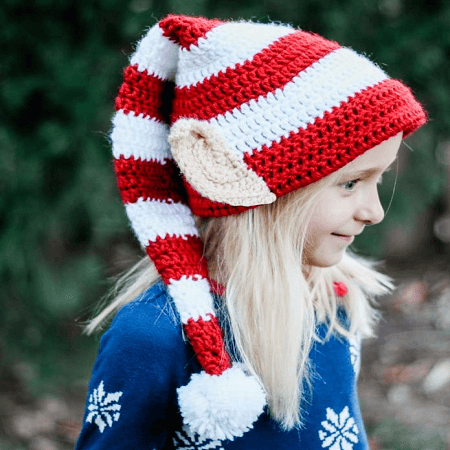 Crochet Elf Hat Pattern With Ears by Make And Do Crew