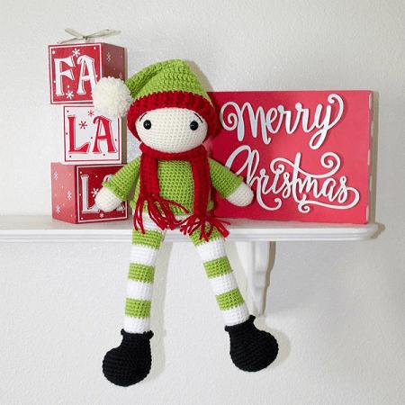 Crochet Elf Pattern by The Friendly Red Fox