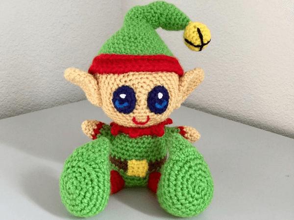 Crochet Christmas Elf Pattern by JB Crochet Wizard