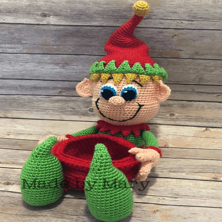 Ravelry: Holiday Shelf Elf Crochet Doll pattern by Mary Smith | 450x450